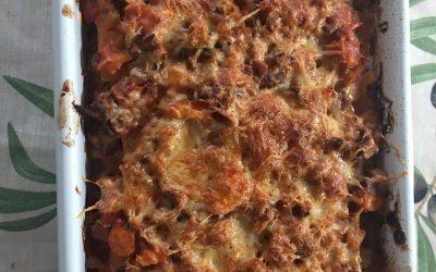 Lasagne met pompoenplakken